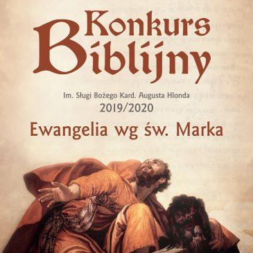 Konkurs Biblijny 2019/2020: Temat przewodni – Ewangelia wg św. Marka