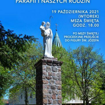 Uroczyste zawierzenie św. Józefowi Parafii i naszych rodzin – 19.10.2021